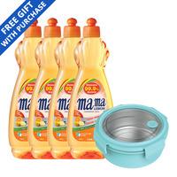 Mama Lemon Dishwashing Liquid - Fresh Citrus + Container