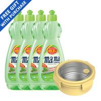 Mama Lemon Dishwashing Liquid - Green Tea + Container