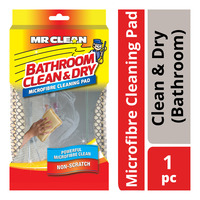Mr Clean Microfibre Cleaning Pad - Clean & Dry (Bathroom)