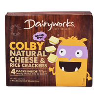 Dairyworks Natural Cheese & Rice Crackers - Colby
