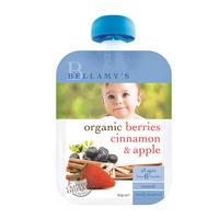 Bellamy's Organic Ready Eat Baby Food - Berries Cinnamon & Apple 90G
