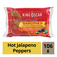 King Oscar Wild Caught Sardines - Hot Jalapeno Peppers