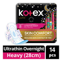 Kotex Luxe Ultrathin Overnight Wing Pads - Heavy (28cm)