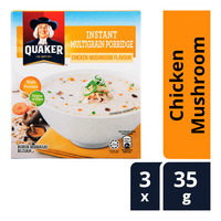 Quaker Instant Multigrain Porridge - Chicken Mushroom