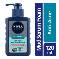 Nivea Men Oil Control Mud Serum Foam - Anti Acne
