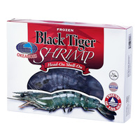 Okeanoss Frozen Black Tiger Shrimp Head-On Shell-On