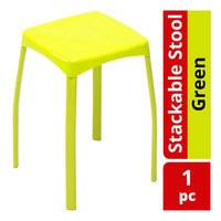 HomeProud Stackable Stool - Green