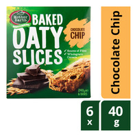 Mother Earth Baked Oaty Slices - Chocolate Chip