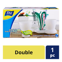 Titiz Tooth Brush Holder - Double