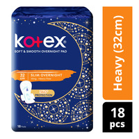 Kotex Soft & Smooth Slim Overnight Wing Pads - Heavy(32cm)