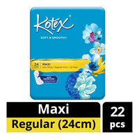 Kotex Soft & Smooth Maxi Non-Wing Pads - Regular (24cm)