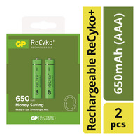 GP Rechargeable ReCyko+ Battery - 650mAh (AAA)