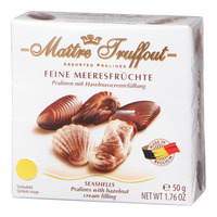 Maitre Truffout Pralines Chocolate - Seashells (Hazelnut)