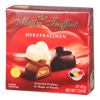 Maitre Truffout Pralines Chocolate - Hearts