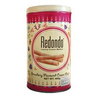 Redondo Christmas Luxury Cream Wafer Tin - Strawberry