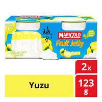 Marigold Fruit Cup Jelly - Yuzu 2 x 123G