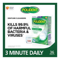 Polident Denture Cleanser Tablet - 3 Minute