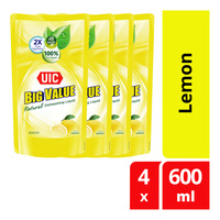 UIC Big Value Dishwashing Liquid Refill - Lemon