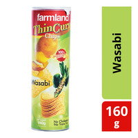 Farmland Thin Curv Potato Chips - Wasabi