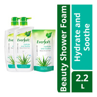 Eversoft Shower Foam + Refill - Hydrate & Soothe