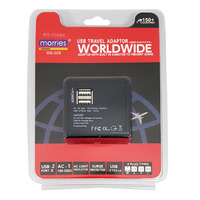 Morries USB Travel Adaptor (MS-006BK)