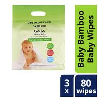 Gaia Natural Baby Bamboo Baby Wipes