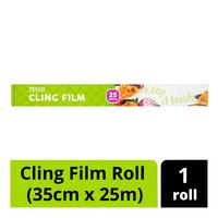 Tesco Cling Film Roll (35cm x 25m)