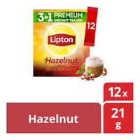 Lipton 3 in 1 Instant Milk Tea Latte - Hazelnut