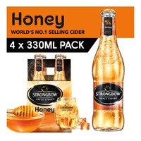 Strongbow Apple Bottle Cider - Honey 4 x 330ML