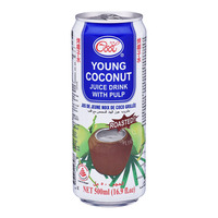 Ice Cool Young Coconut Can Juice - Pulp (Roasted)