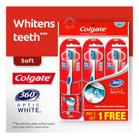 Colgate 360 Optic White Toothbrush - Soft