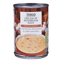 Tesco Soup - Cream of Mushroom 400G