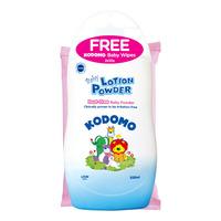 Kodomo Baby Lotion Powder + Free Baby Wipes