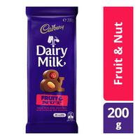 Cadbury Dairy Milk Chocolate Block - Fruit & Nut