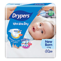 Drypers Wee Wee Dry Diapers - New Born (0 - 5kg)