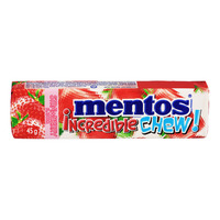 Mentos Incredible Chew! Chewy Dragees - Strawberry