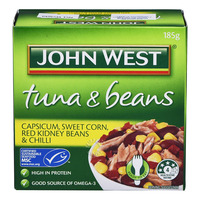 John West Tuna & Beans - Capsicum, Sweet Corn, Red Kidney & Chili
