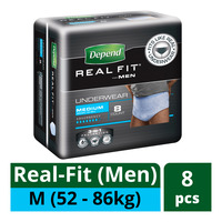 Depend Real-Fit Underwear For Men - M (52 - 86kg)