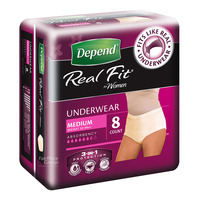 Depend Real-Fit Underwear For Women - M (52 - 86kg)