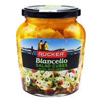 Rucker Blancello Salad Cheese Cubes - Oil with Herbs