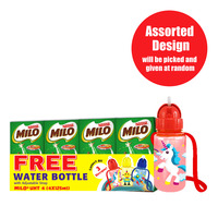 Milo Chocolate Malt Packet Drink - Activ-Go + Water Bottle