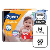 Drypers Drypantz Diapers - M (6 - 12kg) 60S