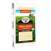 Organic Valley Cheese Slices - Baby Swiss