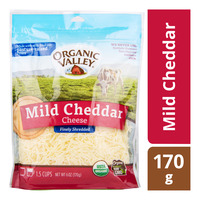Organic Valley Finely Shredded Cheese - Mild Cheddar