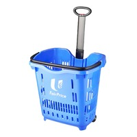FairPrice Plastic Shopping Basket Trolley