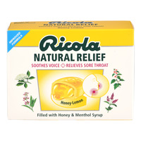 Ricola Natural Relief Swiss Herb Lozenges - Honey Lemon