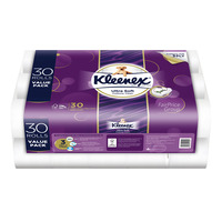 Kleenex Clean Care Toilet Tissue Rolls - Regular  30S