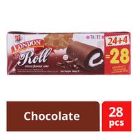 London Roll Cream Cake - Chocolate