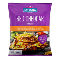 Emborg Shredded Cheese - Red Cheddar