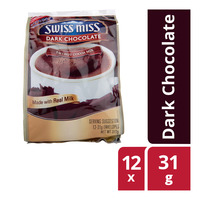 Swiss Miss 3 in 1 Hot Cocoa Mix (Real Milk) - Dark Chocolate